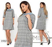 Женское платье в клетку  раз.48-54