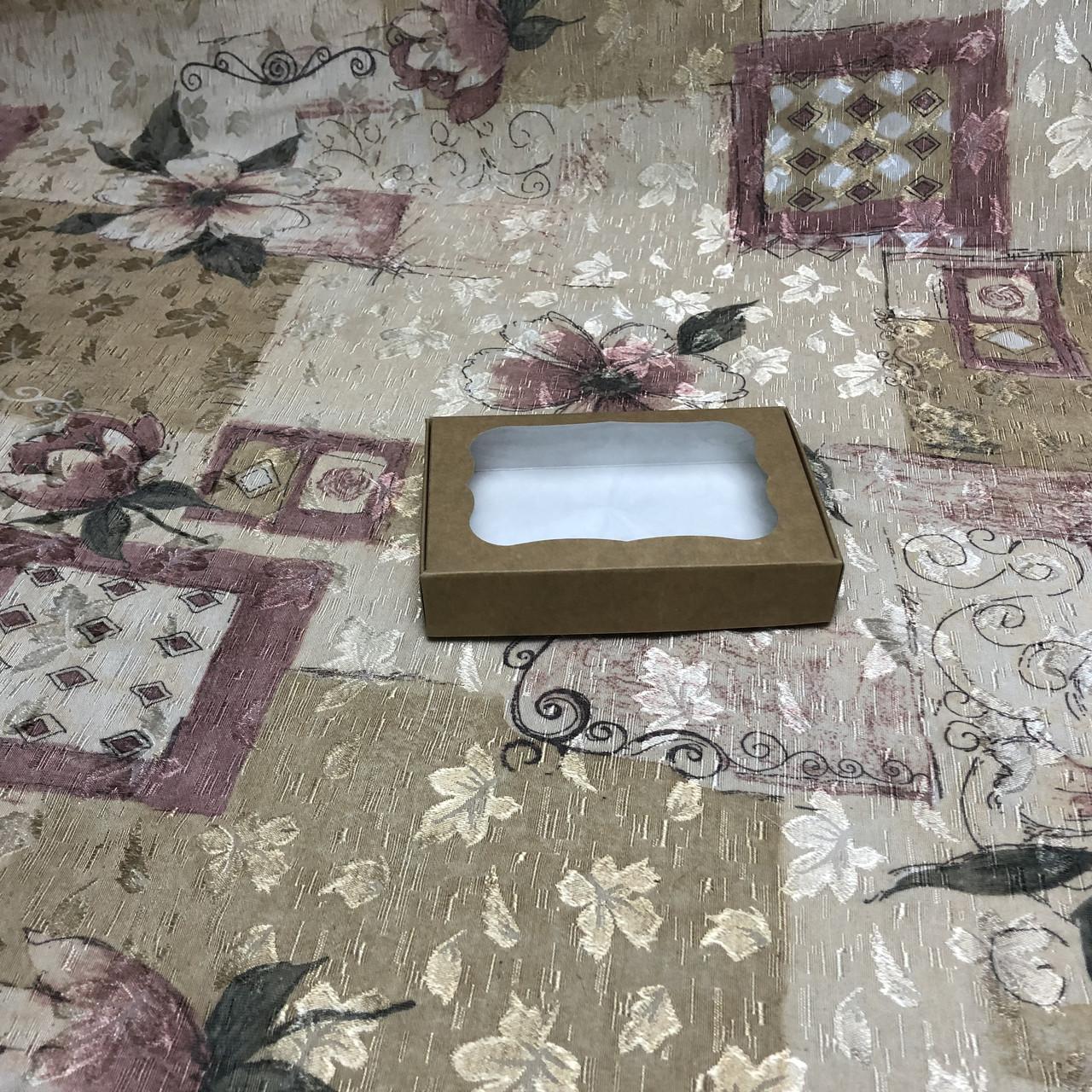 Коробка для пряников / 100х150х30 мм / Крафт / окно-обычн