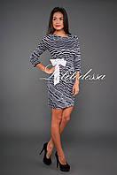 Платье с завязкой сбоку черный/белый, фото 1