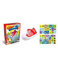 Настольная игра 1111-01B  кеды на присоске 1шт, карточки, в кор-ке, 20,5-26,5-6см