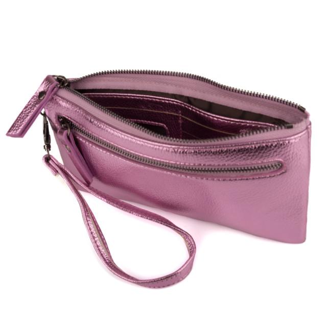 f96d2f7cdd92 Женский оригинальный кошелек Kafa розовый металлик (J-1839), цена ...