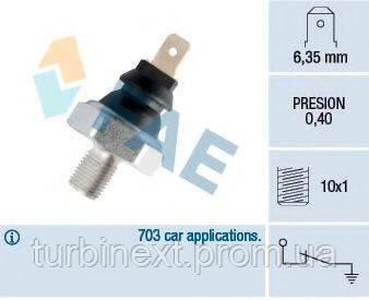 Датчик давления масла VW T4/LT (M10x1) (0.40 bar) (черный) FAE 11070