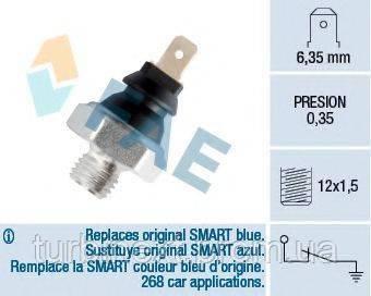 Датчик давления масла MB Sprinter 901-904/Vito (W638)/VW LT 2.3 95-06 (M12x1.5) FAE 11200