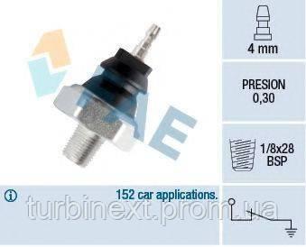 Датчик давления масла Opel Combo 1.7D/Nissan Vanette/Nomad 1.5 83- FAE 12230