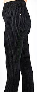 Лосины/брюки женские трикотаж/флис, классика, (батал) р.48-56