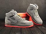 Зимние высокие замшевые кроссовки Nike Air Force, фото 3