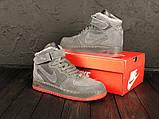 Зимние высокие замшевые кроссовки Nike Air Force, фото 2
