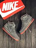 Зимние высокие замшевые кроссовки Nike Air Force, фото 4