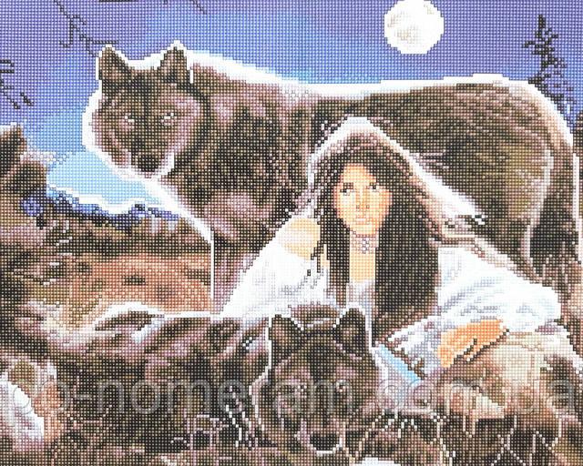 Алмазная вышивка Волчица