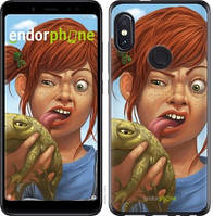 """Чехол на Xiaomi Redmi Note 5 Рыжеволосая девочка с лягушкой """"4059u-1516-2911"""""""