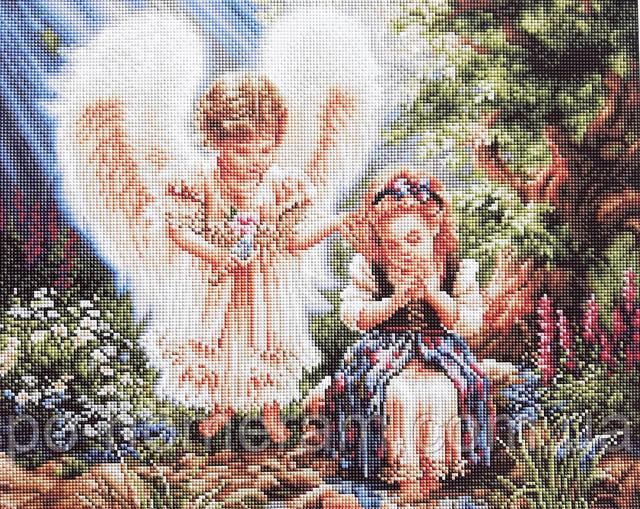 Алмазная мозаика на подрамнике Ангелочки у ручья