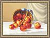 Картина гобеленовая Яблоки 35х48см в багетной раме