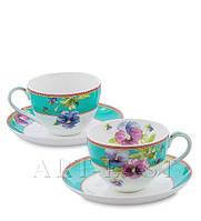 """Чайный набор на 2 персоны """"Виола"""" (Viola Pavone) из костяного фарфора"""