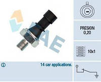 Датчик давления масла Opel Astra H/Vectra C/Corsa D 1.7-3.0 6V CDTi 05- (M10x1) (0.2 bar) FAE 12438