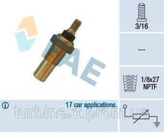Датчик температуры охлаждающей жидкости Ford Mondeo/Fiesta/Sierra 1.8/2.3D 82-00 (черный) FAE 32040