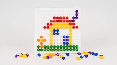Мозаика. В наборе 8 трафаретов и 240 деталей (6 цветов)