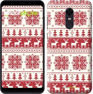 """Чехол на Xiaomi Redmi 5 Plus новый год и красные олени """"1487c-1347-2911"""""""