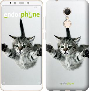 """Чехол на Xiaomi Redmi 5 Летящий котёнок """"2322c-1350-2911"""""""