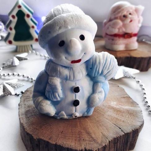 Снеговик Мыло ручной работы