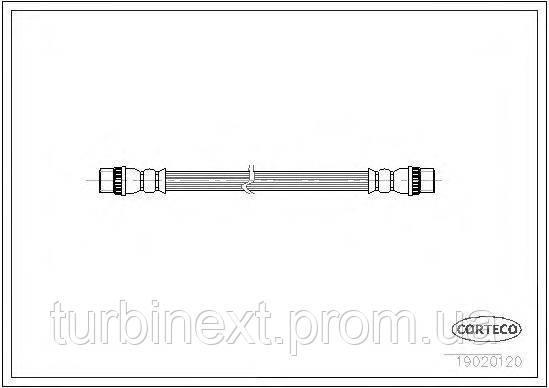 Шланг тормозной (задний) Renault Trafic/Opel Vivaro 01- CORTECO 19020120