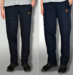 Чоловічі дуже теплі штани з начосом тканина Туреччина колір темно-синій кишені на замках