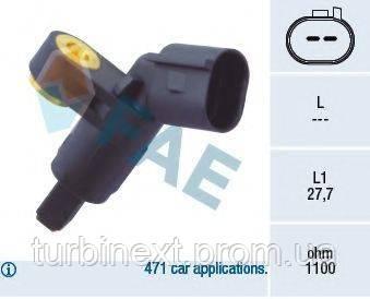 Датчик ABS (передний) VW Caddy II 1.4/1.6/1.9TDi 95-04 (R) FAE 78020