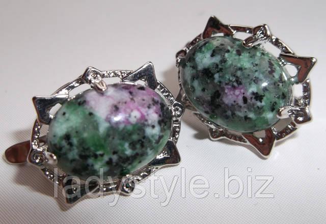 купить серебряные серьги украшения циозит цеизит купить кольцо подарок к юбилею