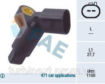 Датчик ABS (передний) VW Caddy II 1.4-1.9TDi 95-04 (L) FAE 78008