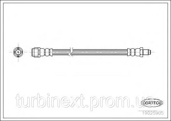 Шланг тормозной (передний) DB Vario 96-/MB E-class (W210) CORTECO 19025905