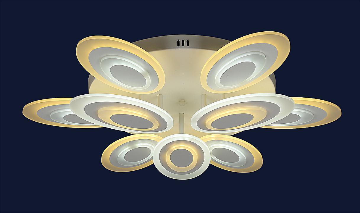 Современная светодиодная люстра 755MX10023-6+3 WH