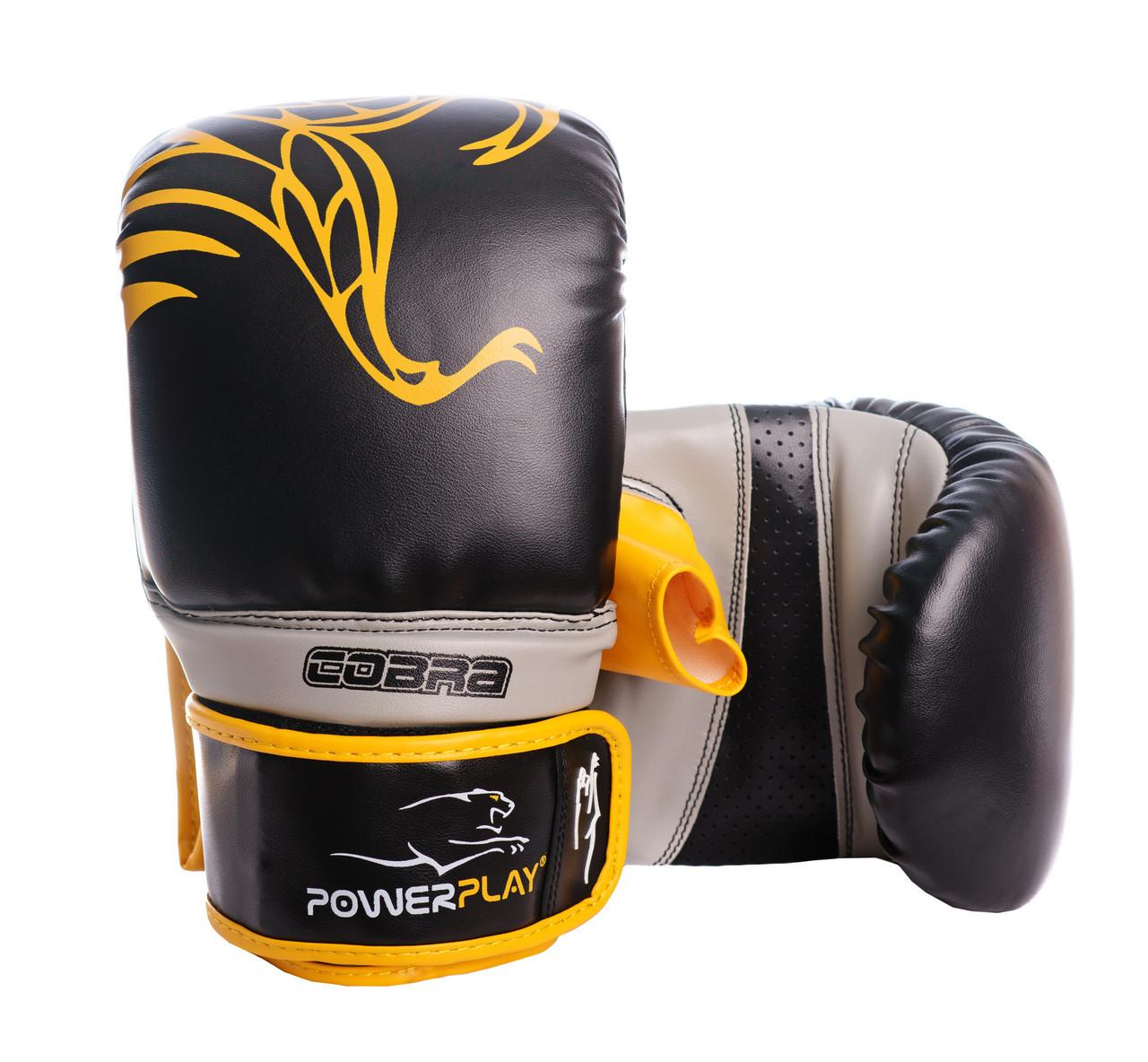 Снарядні рукавички PowerPlay 3038 Чорно-Жовті M