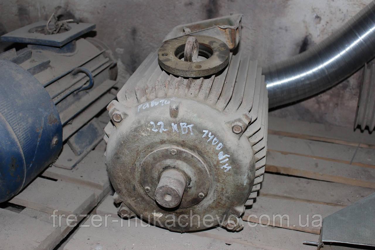 Мотор б/у 22 кВт 1400 об/хв
