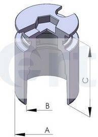 Поршенек суппорта (заднего) Renault Kangoo 97- (38x51mm) ERT 150198-C