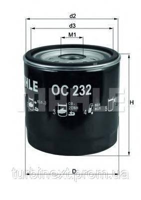 Фильтр масляный Ford Transit 2.5D/TD 92- /Connect 1.8Di/TDCi 02- KNECHT OC 232