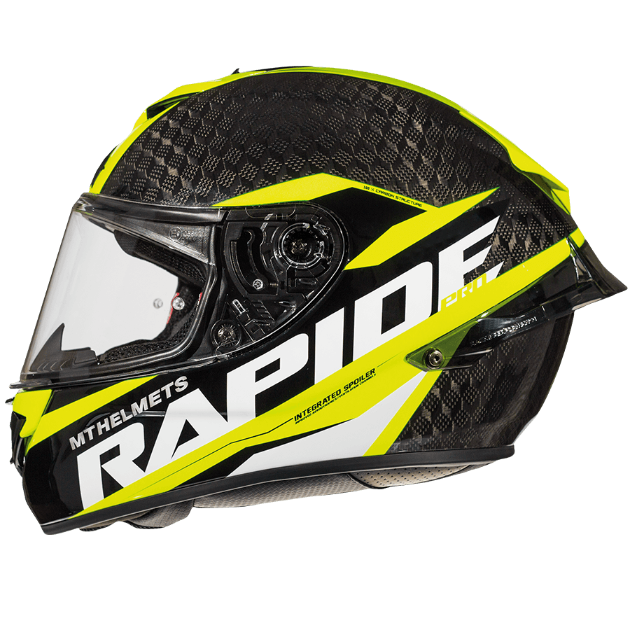 Мотошлем MT Rapide Pro Carbon Yellow
