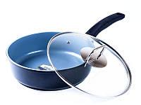 Сковорода-сотейник покрытие керамика 24 см Bergner BG-8649