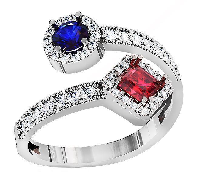 Кольцо  женское серебряное Figures 213 170