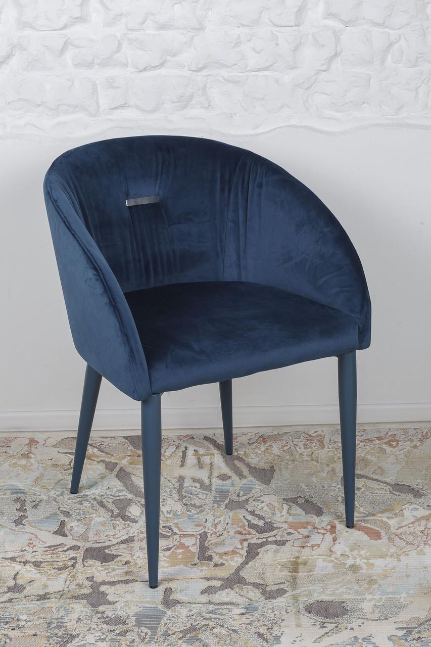 Кресло ELBE (Эльба) синее от Niсolas, велюр