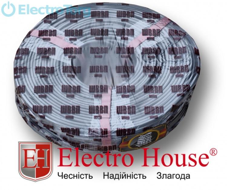 Провод ШВВП 2х1.5 (серый) ElectroHouse