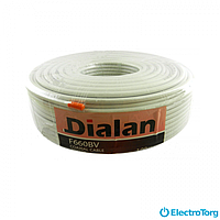 Телевизионный кабель F660BV CCS 1.02 экран 60% 75 Ом Dialan