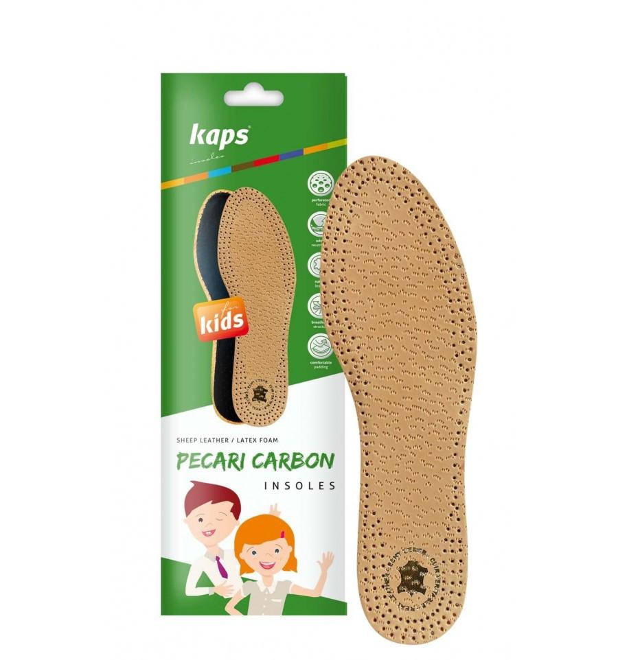 Kaps Pecari Carbon Kids - Кожаные стельки для детской обуви 32