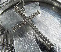 """Крест серебряный """"В Камнях"""", фото 1"""