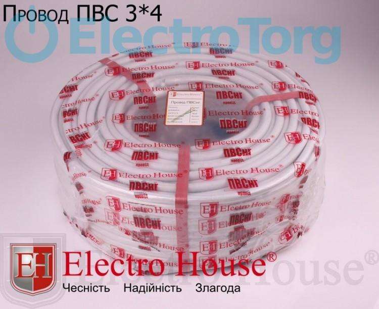 Провод ПВСнг 3х4 (3*4) ElectroHouse