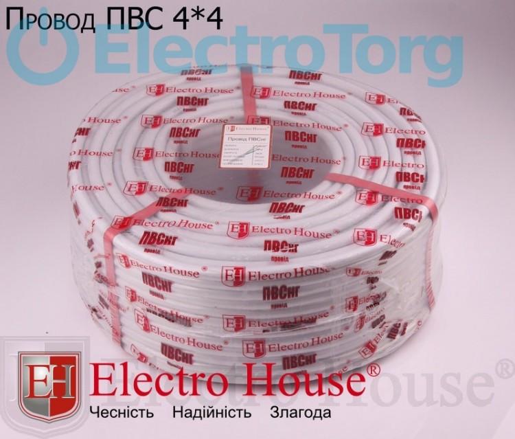 Провод ПВСнг 4х4 (4*4) - силовой кабель ElectroHouse, фото 1