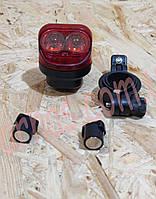 Фонарь велосипедный аккумуляторный 10281 задний свет стоп , фото 1