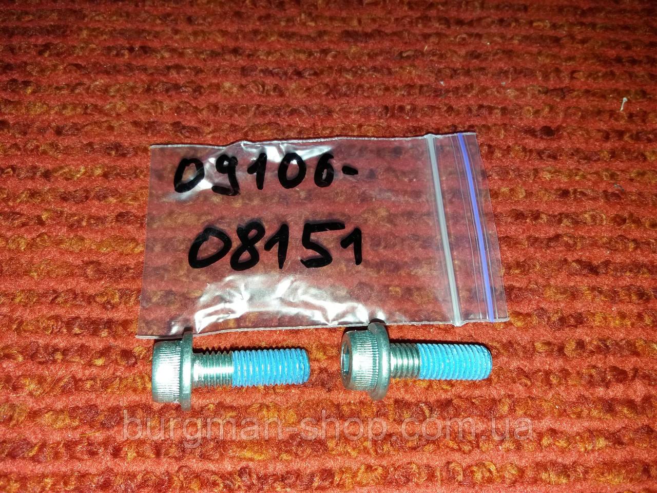 Болт верхний проставки выхлопной трубы (8х25) 400сс 98-16г Suzuki Burgman SkyWave 09106-08151