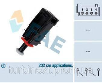 Датчик педали тормоза Opel Combo/Citroen Nemo/Fiat Punto 1.3-1.9D 05- (4 конт.) FAE 24795
