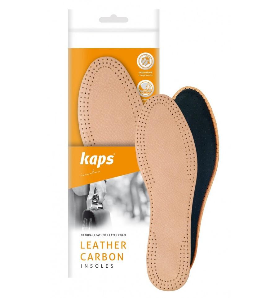 Kaps Leather Carbon - Кожаные стельки для обуви 35