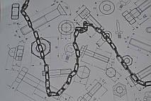 Цепь короткозвенная Ф4 нержавеющая из стали А2