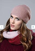 Женская зимняя вязаная, теплая на флисе. Размер универсальный, цвета разные.
